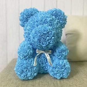 ローズベア ブルー お祝い 誕生日 周年
