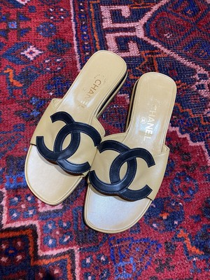 .CHANEL BIG COCO MARC LEATHER SANDALS  MADE IN ITALY/シャネルビッグココマークレザーサンダル2000000049526