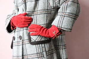 OLD GUCCI suede  gloves
