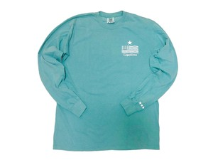 "【""USA"" vintage long sleeve】/ pastel green"