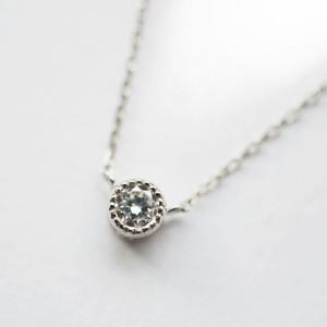Pt900 クラシックな0.1カラット ダイヤモンド ネックレス【受注制作】