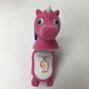【ユニコーン】ピンク Wildlife Garden アニマルペンダント 愛しい ベロアボックス ♡ ユニークな動物たち ペンダント 40cm アジャスタ付