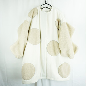UNEVEN BOA DOTS MIX SP COAT