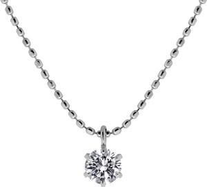 K18WGダイヤモンドプチネックレス