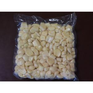【送料無料】青森県産 低臭むきにんにく大サイズ8kg(1kg真空パックx8袋)