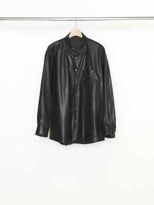 Allege Synthetic Leather Shirt Black AL21W-SH03