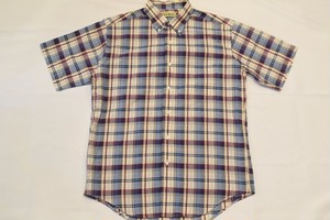 USED 90s L.L.Bean S/S shirt -Medium 01016