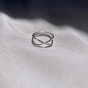 Silver925 Spiral Bow ring(弓形リング)