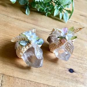 【おためし価格】花の精のペンダントトップ〔ブラジル産水晶〕