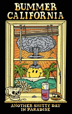 Bummer California - WINDOW POSTCARD