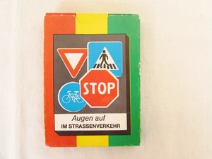 DDR(旧東ドイツ)のカードゲーム Augen auf im Strassenverkehr交通標識
