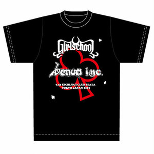 半額セール!T-Shirtsタイプ1:Venom Inc.+Girlschool【N.W.O.B.H.M 40TH  SPECIAL GIG】