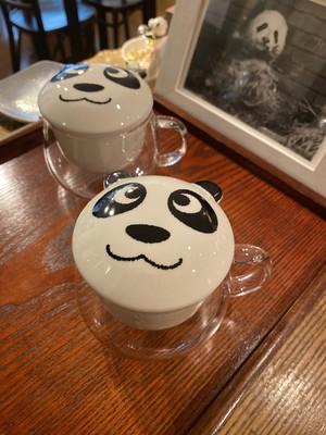 茶こし付き耐熱ガラスのティーマグ