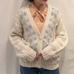 pastel color knit cardigan