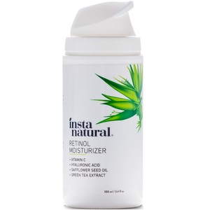 InstaNatural, レチノールモイスチャライザーアンチエイジングクリーム - Anti Wrinkle Lotion for Face & Neck with Vitamin C Hyaluronic Acid 3.4液体オンス(100 ml)