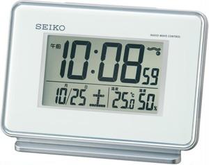 SEIKO電波デジタル目覚まし時計 白 SQ767W