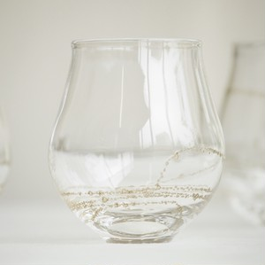 曽田伸子さんの真鍮泡グラス