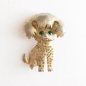 gold dog brooch[b-246]
