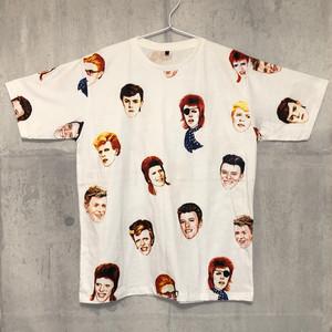 【送料無料 / ロック バンド Tシャツ】 DAVID BOWIE / Faces Men's T-shirts M デヴィッド・ボウイ / 顔 メンズ Tシャツ M