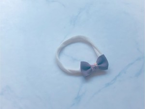 baby head band mini ribbon【Mont Blanc×swirling petals】