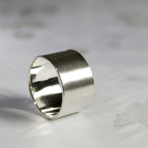 シルバーフラットリング 12.0mm幅 マット 3号~27号|WKS FLAT RING 12.0 sv matte|FA-355