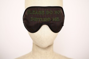 "まつエクしてても着用OK! Solid EyeMask ""Please Do not Disturb Me /  Multi Stripe"""