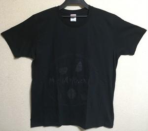 MUSHAxKUSHA T-shirt 2016 「似顔絵」 黒×黒