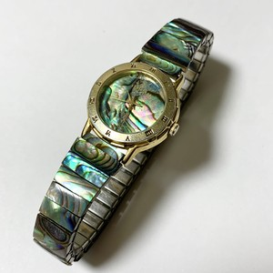Vintage Abalon Shell Quortz Watch