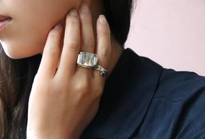 80's ZINA silver ring