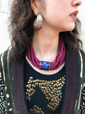 Vintage purple beads necklace ( ヴィンテージ パープル ビーズ ネックレス
