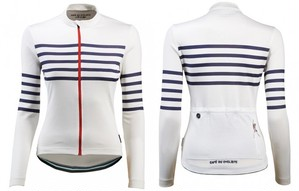 Cafe du Cycliste(Women'sモデル) ボーダーロングスリーブジャージ(claudette)