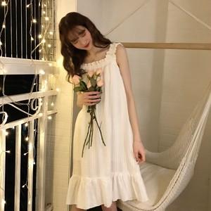 【ルームウェア】ファッション清新シンプル薄型ワンピースルームウェア