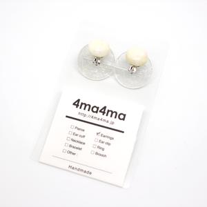 【4ma4ma】カスタネットイヤリング
