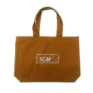 scar /////// OG LOGO LARGE TOTE BAG (Camel)