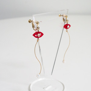 Namida no Ato Pierces / Earrings -red-