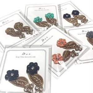インドザリ刺繍デコパーツセット(お花とビジュー/2p)