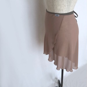 "◇""Tatiana"" Ballet Wrap Skirt - Milk Cocoa [Sheer]( ミルクココア [シアー])"