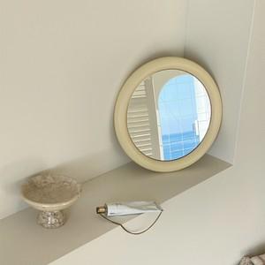 vintage circle mirror 2colors / ヴィンテージ アンティーク調 レトロ サークル ミラー 鏡 ラウンド 韓国 北欧 パリ 雑貨