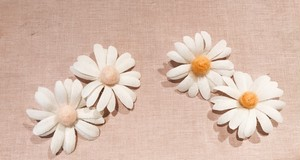 "fig_ui - ""white daisy"" earring"
