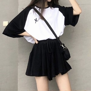 オーバーサイズTシャツ+ルーズショートパンツ S4260