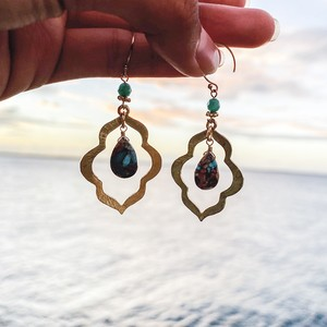 Moroccan Oyster Capper TurquoisePierce