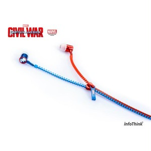 InfoThink イヤホン MARVEL シビル・ウォー/キャプテン・アメリカ 1.2m キャプテン・アメリカ & アイアンマン IT-EP-100(CA3)