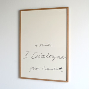 Cy Twombly / Three Dialogues 1 / 1977  額装済