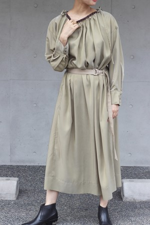 【KOTONA】drawstring dress-khaki
