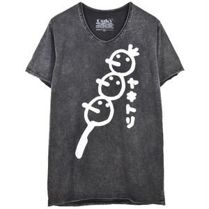 石垣もずく × OUKY コラボ Tシャツ ブラック×ホワイト A