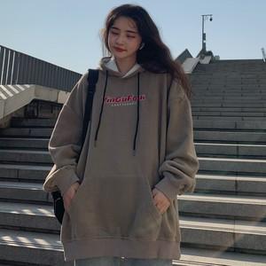 【トップス】韓国系フード付きプリントアルファベットプルオーバーパーカー37766788