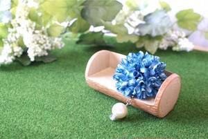 マムの花飾り『mix blue』