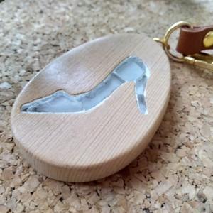 ガラスの靴のバックチャーム