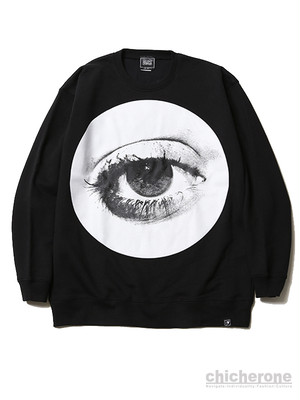 【SILLENT FROM ME】HOLE -Crew Sweat-BLACK