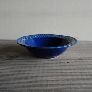 感器工房 波佐見焼 翔芳窯 ローズマリー リムボウル 皿 17.5cm ブルー 332815